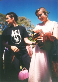 Jenna James & Dan Rae Wilson,  middle school graduation 1997(?)