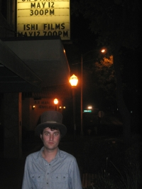 Lee Lynch at Ishi film screening, Oroville, 2007